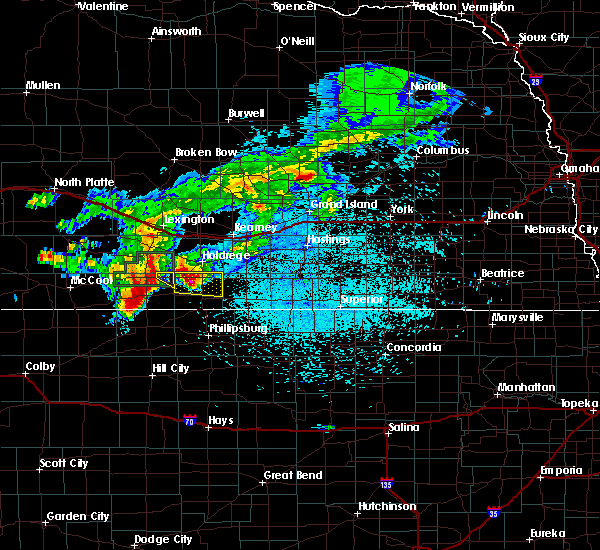 Radar Image for Severe Thunderstorms near Oxford, NE at 7/10/2019 2:59 AM CDT