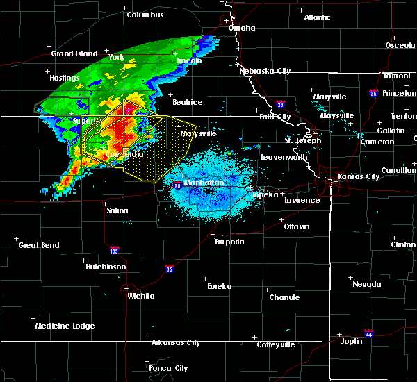 Radar Image for Severe Thunderstorms near Washington, KS at 7/10/2019 5:56 AM CDT