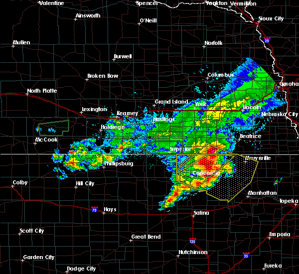 Radar Image for Severe Thunderstorms near Endicott, NE at 7/10/2019 6:02 AM CDT