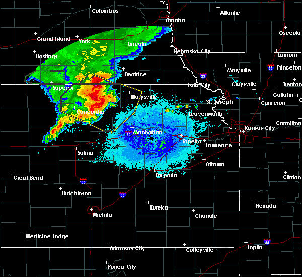 Radar Image for Severe Thunderstorms near Washington, KS at 7/10/2019 6:04 AM CDT