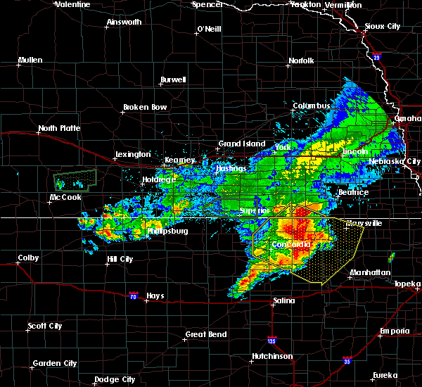 Radar Image for Severe Thunderstorms near Endicott, NE at 7/10/2019 6:08 AM CDT
