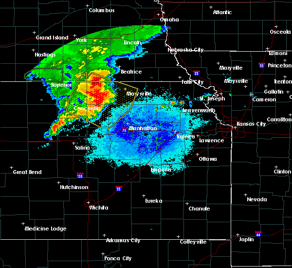 Radar Image for Severe Thunderstorms near Washington, KS at 7/10/2019 6:10 AM CDT