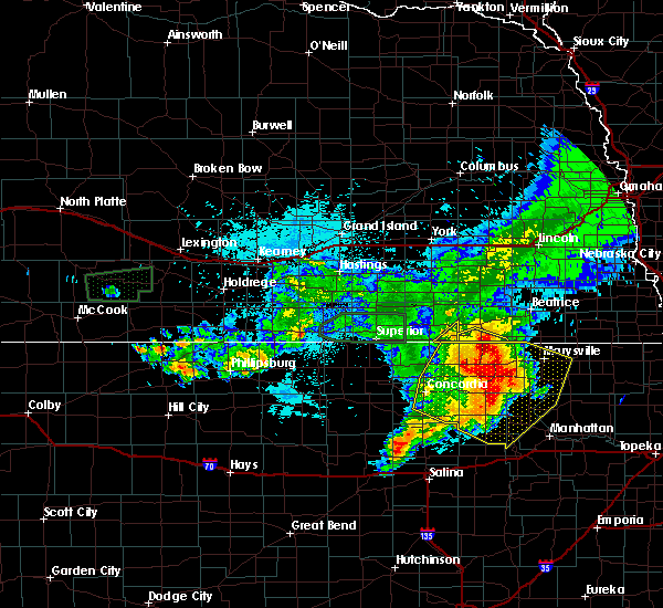 Radar Image for Severe Thunderstorms near Endicott, NE at 7/10/2019 6:14 AM CDT