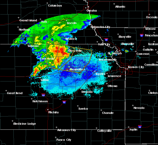 Radar Image for Severe Thunderstorms near Home, KS at 7/10/2019 6:31 AM CDT