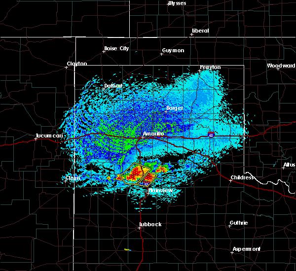 Radar Image for Severe Thunderstorms near Kress, TX at 7/10/2019 2:34 PM CDT