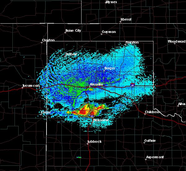 Radar Image for Severe Thunderstorms near Kress, TX at 7/10/2019 2:43 PM CDT