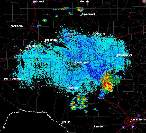 Radar Image for Severe Thunderstorms near Brady, TX at 7/10/2019 4:28 PM CDT
