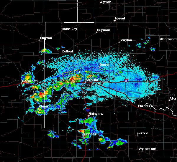 Radar Image for Severe Thunderstorms near Vega, TX at 7/10/2019 5:21 PM CDT