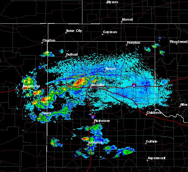 Radar Image for Severe Thunderstorms near Vega, TX at 7/10/2019 5:24 PM CDT