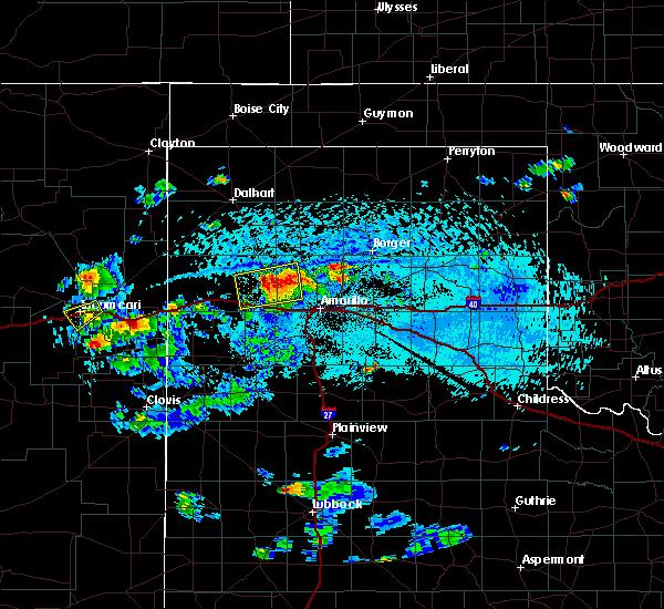 Radar Image for Severe Thunderstorms near Vega, TX at 7/10/2019 5:41 PM CDT