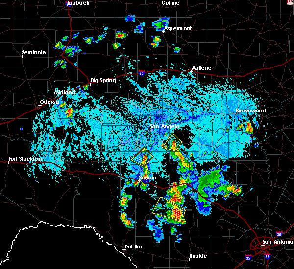 Radar Image for Severe Thunderstorms near Eldorado, TX at 7/10/2019 6:02 PM CDT
