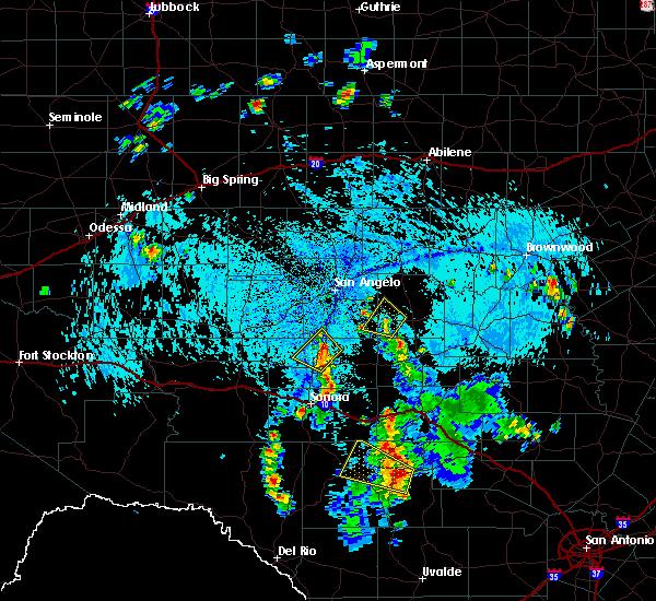 Radar Image for Severe Thunderstorms near Eldorado, TX at 7/10/2019 6:17 PM CDT