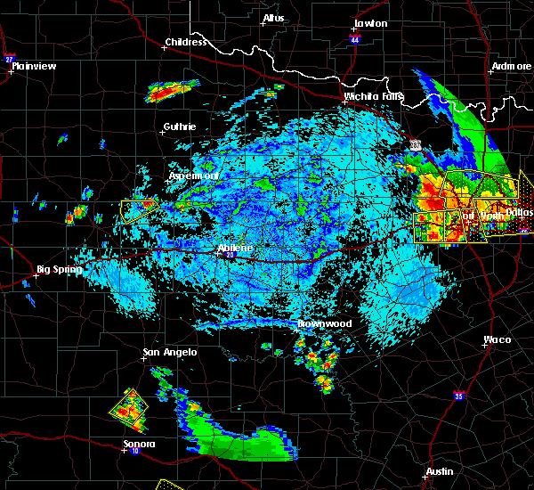 Radar Image for Severe Thunderstorms near Rotan, TX at 7/10/2019 6:30 PM CDT