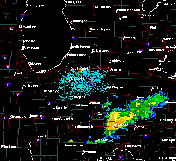 Radar Image for Severe Thunderstorms near Dunlap, IN at 7/10/2019 11:45 PM EDT