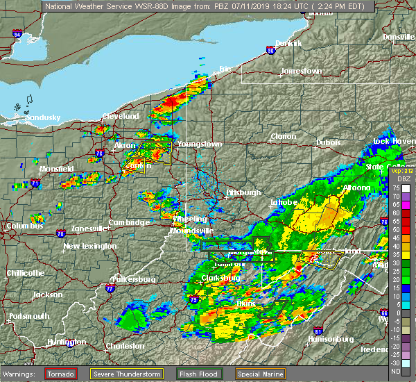 Radar Image for Severe Thunderstorms near South Canal, OH at 7/11/2019 2:27 PM EDT