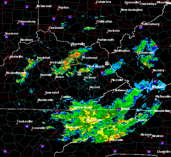 Radar Image for Severe Thunderstorms near Mount Sterling, KY at 7/11/2019 2:47 PM EDT