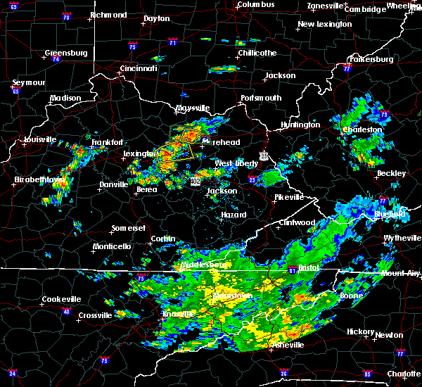 Radar Image for Severe Thunderstorms near Mount Sterling, KY at 7/11/2019 2:57 PM EDT