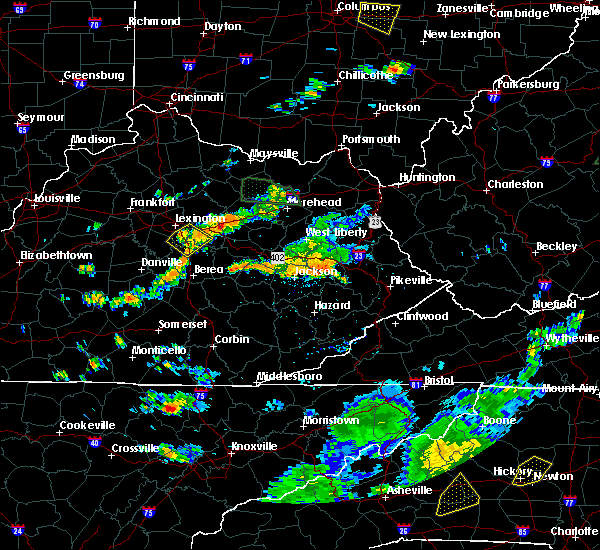 Radar Image for Severe Thunderstorms near Richmond, KY at 7/11/2019 4:37 PM EDT