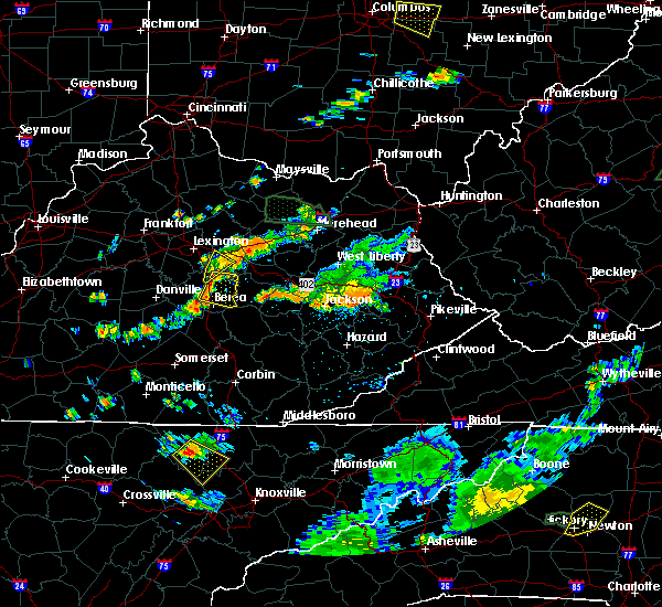Radar Image for Severe Thunderstorms near Richmond, KY at 7/11/2019 4:43 PM EDT