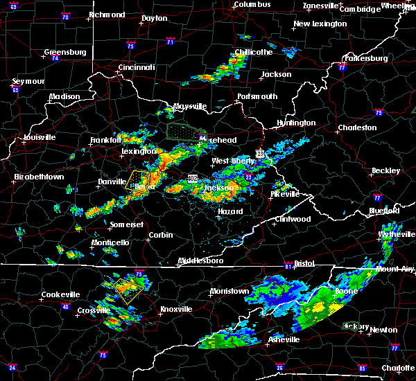 Radar Image for Severe Thunderstorms near McKee, KY at 7/11/2019 5:07 PM EDT