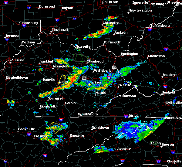 Radar Image for Severe Thunderstorms near Beattyville, KY at 7/11/2019 5:27 PM EDT