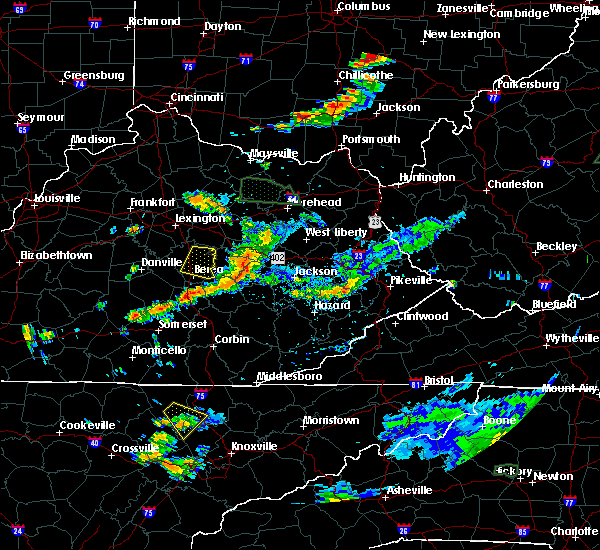 Radar Image for Severe Thunderstorms near McKee, KY at 7/11/2019 5:36 PM EDT