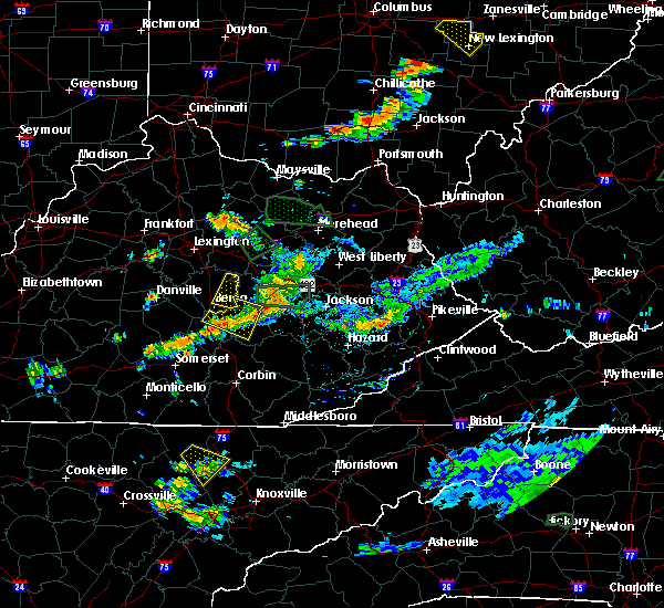 Radar Image for Severe Thunderstorms near Beattyville, KY at 7/11/2019 5:43 PM EDT