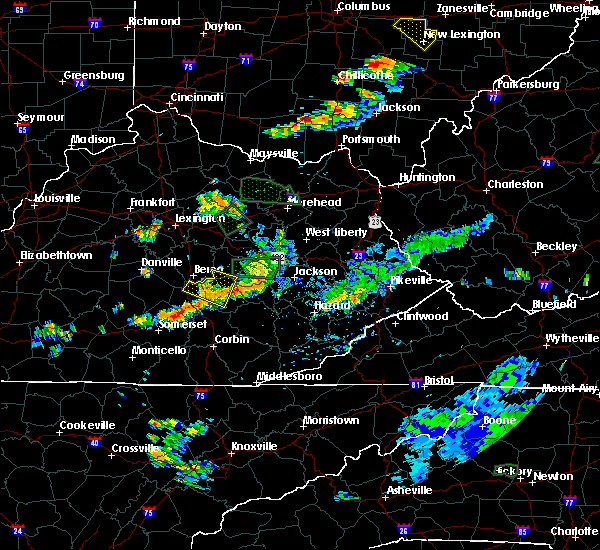 Radar Image for Severe Thunderstorms near Beattyville, KY at 7/11/2019 5:58 PM EDT
