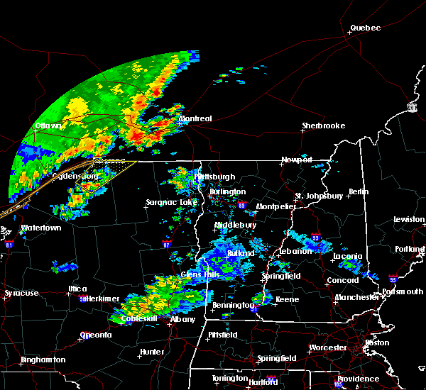 Radar Image for Severe Thunderstorms near Canton, NY at 7/11/2019 6:11 PM EDT