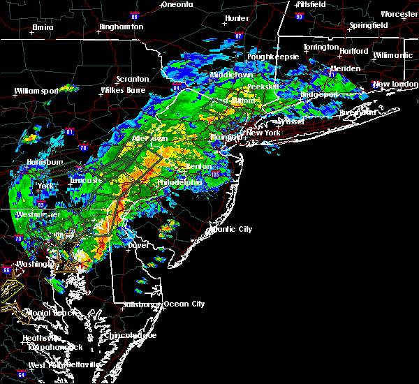 Radar Image for Severe Thunderstorms near Clayton, NJ at 7/11/2019 6:19 PM EDT