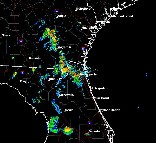 Radar Image for Severe Thunderstorms near Jacksonville, FL at 7/11/2019 6:28 PM EDT