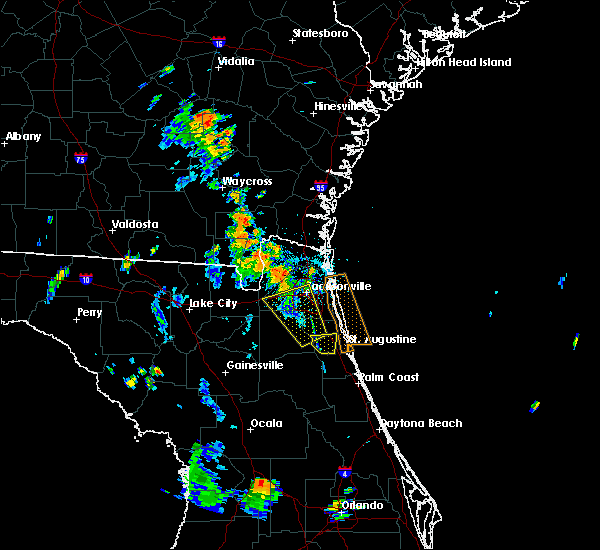 Radar Image for Severe Thunderstorms near Callahan, FL at 7/11/2019 6:39 PM EDT