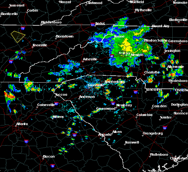 Radar Image for Severe Thunderstorms near Jonesville, SC at 7/11/2019 6:48 PM EDT