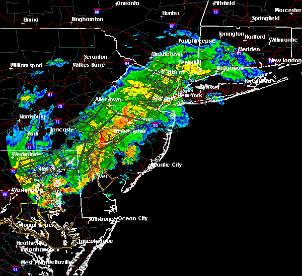 Radar Image for Severe Thunderstorms near Clayton, NJ at 7/11/2019 6:52 PM EDT