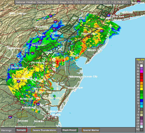 Radar Image for Severe Thunderstorms near Algonquin, MD at 7/11/2019 7:36 PM EDT