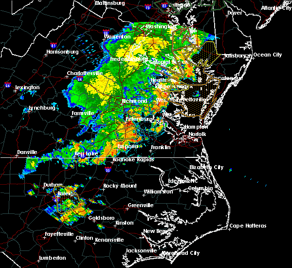 Radar Image for Severe Thunderstorms near Heathsville, VA at 7/11/2019 7:45 PM EDT