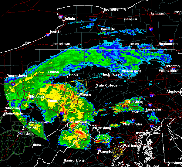Radar Image for Severe Thunderstorms near Wellersburg, PA at 6/20/2015 6:29 PM EDT