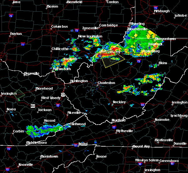 Radar Image for Severe Thunderstorms near Cairo, WV at 7/11/2019 8:07 PM EDT
