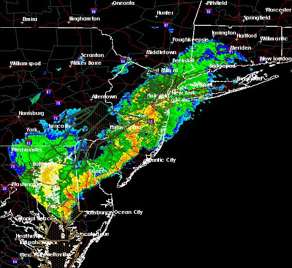 Radar Image for Severe Thunderstorms near Roosevelt, NJ at 7/11/2019 8:16 PM EDT