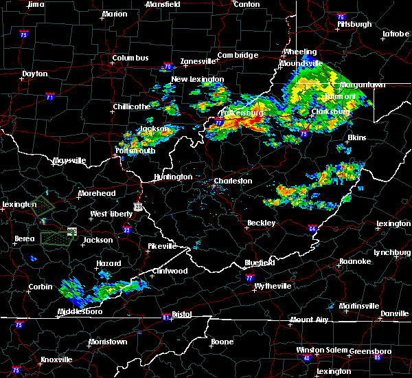 Radar Image for Severe Thunderstorms near Cairo, WV at 7/11/2019 8:25 PM EDT