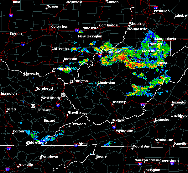 Radar Image for Severe Thunderstorms near Salem, WV at 7/11/2019 8:54 PM EDT