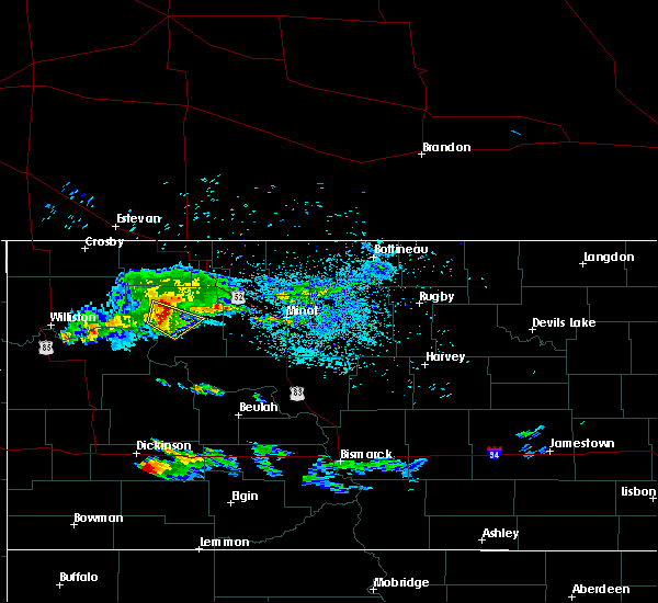 Radar Image for Severe Thunderstorms near Stanley, ND at 7/12/2019 9:21 PM CDT