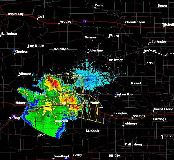 Radar Image for Severe Thunderstorms near Maxwell, NE at 7/12/2019 10:37 PM CDT