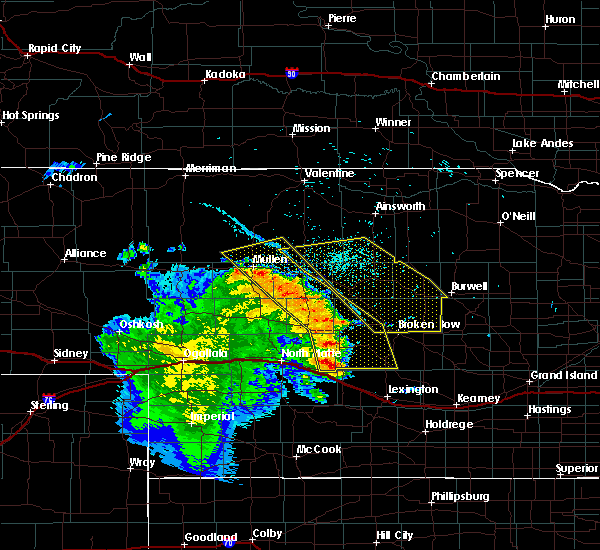 Radar Image for Severe Thunderstorms near Stapleton, NE at 7/12/2019 11:42 PM CDT