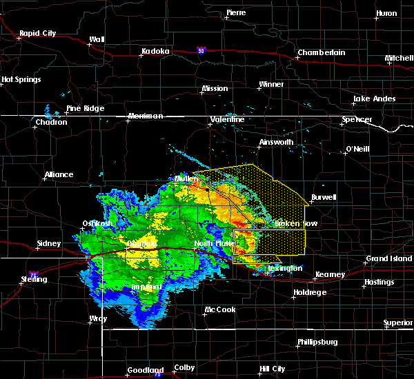 Radar Image for Severe Thunderstorms near Mason City, NE at 7/13/2019 12:04 AM CDT