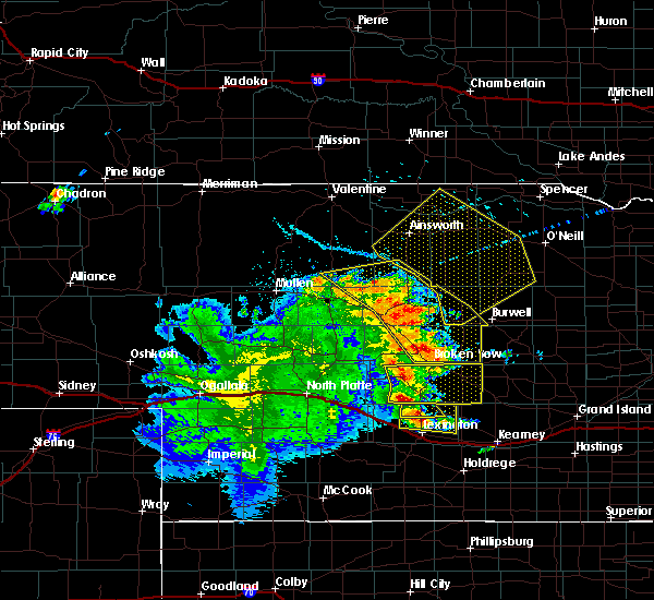 Radar Image for Severe Thunderstorms near Newport, NE at 7/13/2019 12:23 AM CDT