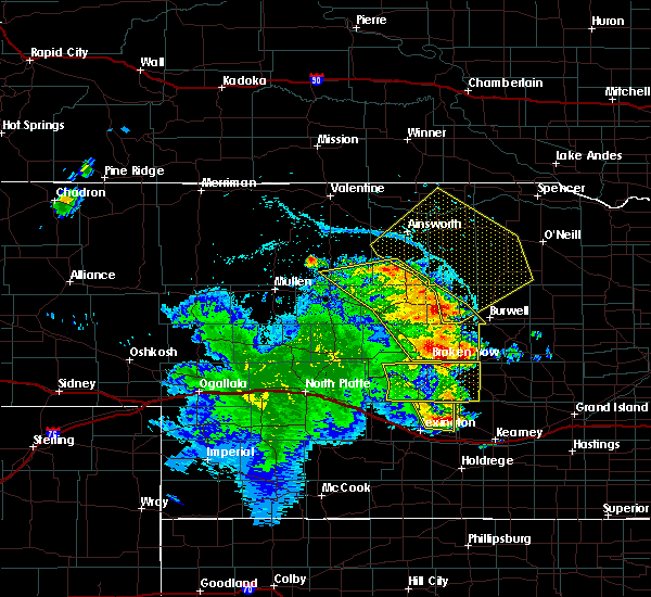 Radar Image for Severe Thunderstorms near Comstock, NE at 7/13/2019 12:44 AM CDT