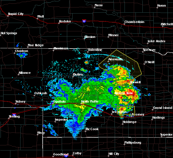 Radar Image for Severe Thunderstorms near Atkinson, NE at 7/13/2019 1:10 AM CDT