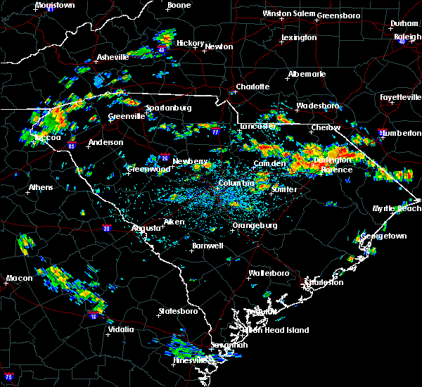 Radar Image for Severe Thunderstorms near McBee, SC at 7/13/2019 1:29 PM EDT