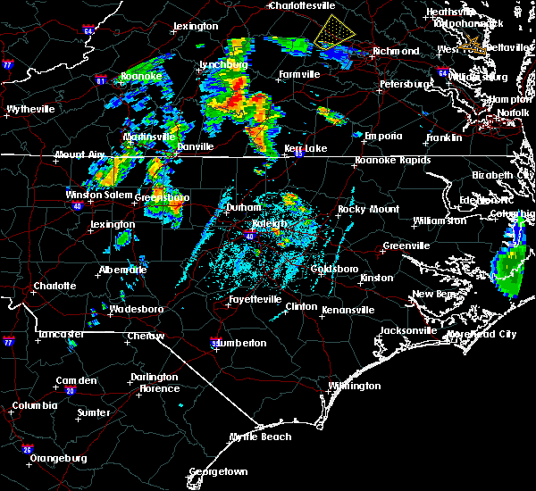 Radar Image for Severe Thunderstorms near Durham, NC at 6/20/2015 6:51 PM EDT